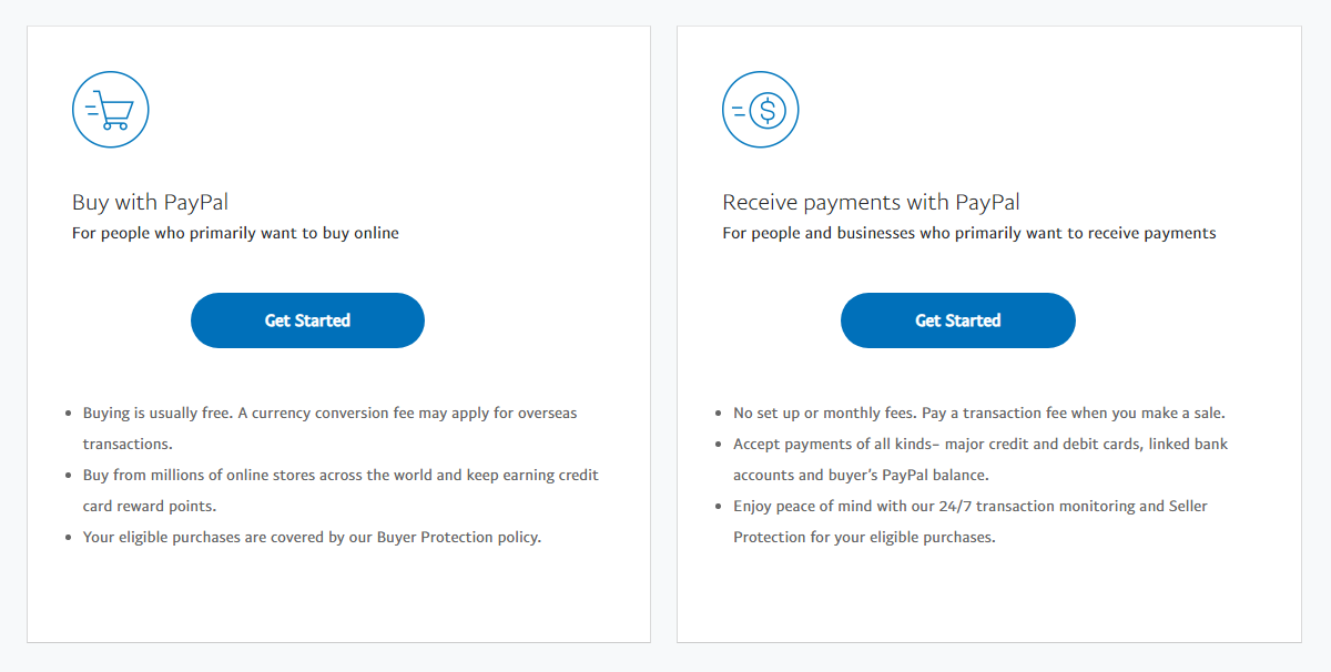 PayPal Account Types